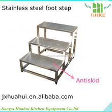 Factory using Stainless steel quick step ladder steel step over ladder