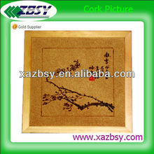 """QinBa "" hot sale colorful cork picture for business gift"