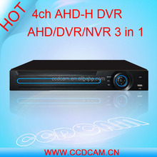 h.264 ahd dvr nvr 3in 1080P full hd 4ch ahd dvr for cctv camera system