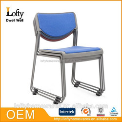 Fabric padded stackable conference chair factory price