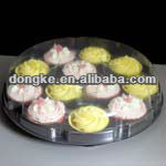Clear plastic cupcake box with lid / China supplier / plastic box for cupcake