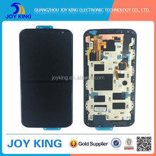 China wholesale for moto x2 xt1097 lcd with touch digitizer, for moto x (2nd gen) xt1096 lcd screen with frame