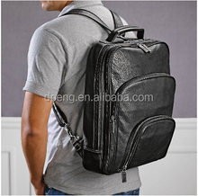 Wholesale China PU leather backpack,strong backpacks bags for students