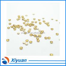 Loose Rhinestone For DIY Iron On Gold Aluminium Half Round Dome Stud
