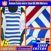 2016 wholesale plain white 100% cotton twill fabric for t-shirt