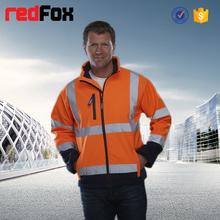 high visibility Windproof waterproof softshell man jacket