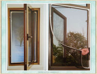 100%polyester waterproof Magnetic window screens