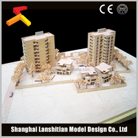wood house for commercial building model,college and CBD