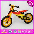 Venta caliente de alta calidad en bicicleta de madera, popular equilibrio bicicleta de madera, la moda de nueva bicicleta de los niños w16c082