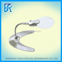 Alibaba china high quality destop magnifier With lamp stand and adjustable conduit