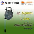 I. D. L 6.5mm 10m dts-6810w pequeno de água de tamanho do carretel da mangueira de jardim carretel da mangueira hidráulica ferramenta