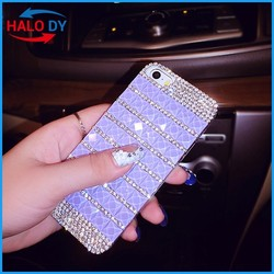 Shiny case with diamond design on clear hard pc case for samsung galaxy grand prime g530h g530