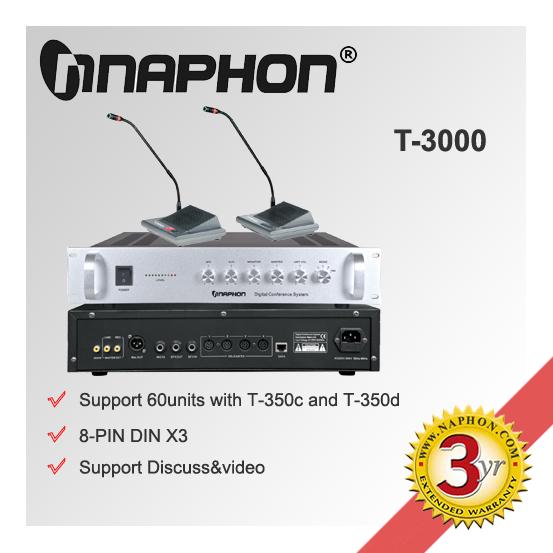 Sistema de conferencia de Audio T-3000 tabla con Monitor de altavoz para discutir, De vídeo y votación