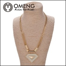 Foreign Trade China Supplier Rose Gold Triangle Chain Necklace