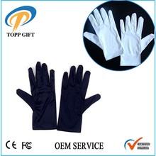 Dust free White microfiber jewelry gloves, watch gloves