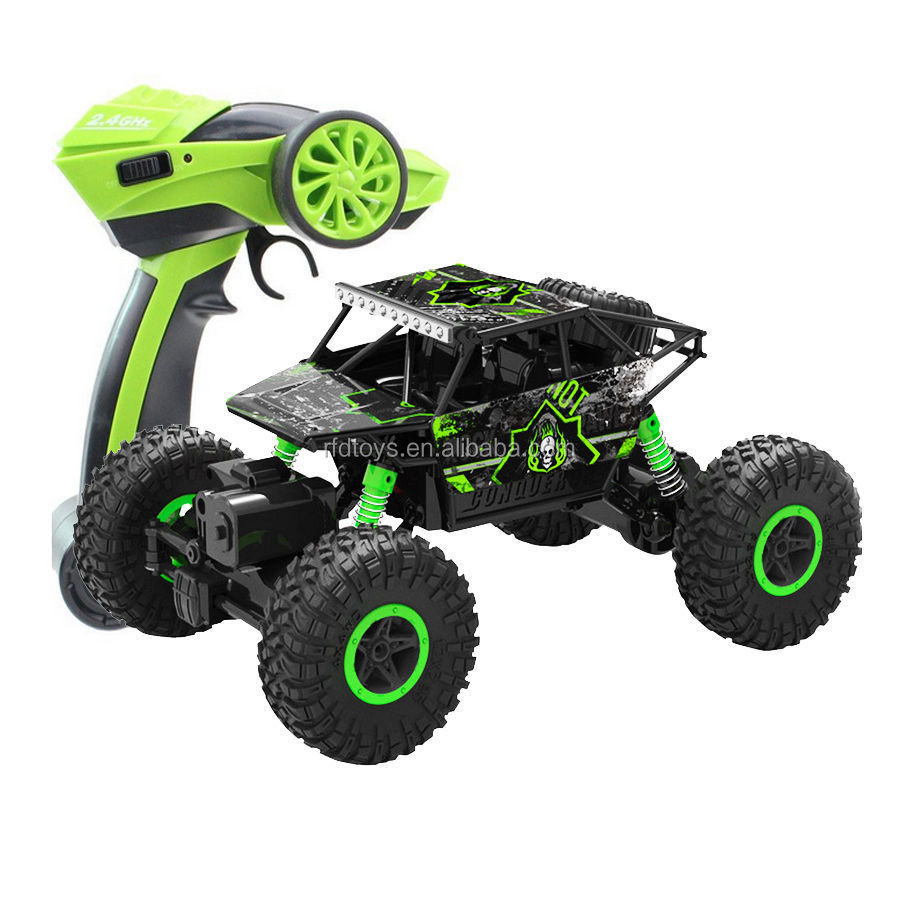 2 4 ghz radio control rc rock crawler 4wd del carro del. Black Bedroom Furniture Sets. Home Design Ideas