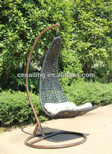All Weather Wicker Stacking outdoor rattan hanging chair Dining Chair