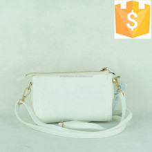 2015 college girls whole white color fashion leisure small leather shoulder bags