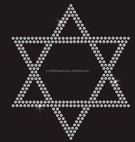 Geometrical pattern rhinestone transfer motif design wholesale