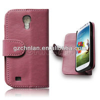 High quality mobile phone cover leather flip case for samsung galaxy s4 mini i9190