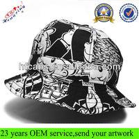 Wholesale black printing bucket custom fashion bucket hat floppy hat