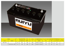 High Quality Sealed MF car battery made in korea 12V105AH car battery wholesale