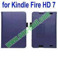 Leather Material for Amazon Kindle Fire HD 7 Case with Pen Holder