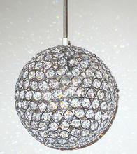 Modern K9 Crystal Ball Pendant Light Kitchen Living Room Hanging Lamp 1 Lights E27 110-240V