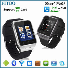 100% Best Dual Core 5MP camera WIFI GPS unlocked smart watch mobile phone