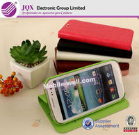 Hot product high quality leather flip case for samsung s4 mini