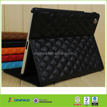 Ling plaid Leather PU case for ipad