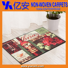Tufted non slip 100% polyester printed door mat