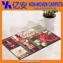 Tufted non slip living room carpet, bedroom printed door mat