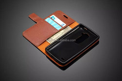 New Lychee Wallet PU Leather+Soft TPU Case With Stand for LG Leon 4G LTE H340N C40 C50