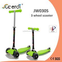 mini new 3 wheel folding kids kick n go foot pedal push 120/80mm kick bike scooter