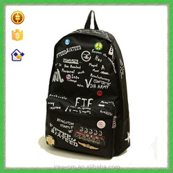 2015 Fashion canvas backpack with fashion word