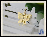 Ladies 24K Yellow Gold Butterfly Pendant 3D Craft / 75g