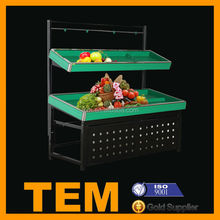 Low Cost High Quality Supermarket Fruit and Vegetable Display Stand
