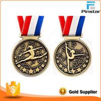 China Supplier Custom Antique Gold Metal Sport Award 3D Medal