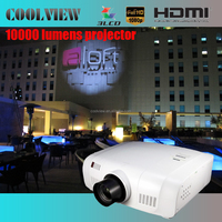 10000 lumens balck color USB WUXGA Full HD LCD digital resolution 10000 ansi lumens projector