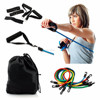 11 Piece Resistance Band Workout Set,Yoga Pilates Exercise Fitness Tube Workout Bands Kit