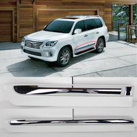 Toyota lexus lx570 rocker panel chrome white LH+RH four pieces