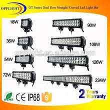 Aluminum housing 180w 28inch double row straight led light bar 3w chip For atv double row light bar