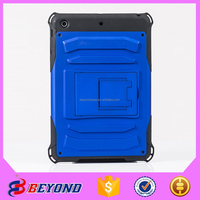 Hot sale new product for 2015 cell phone case for ipad mini2/3 TPU PC 3 in 1dorp-proof stand rubber oil case mobile accessories