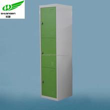 Cheap collapsible KD storage 3 door steel wardrobe colorful designer iron almirah clothes steel wardrobe/clothes metal wardrobe