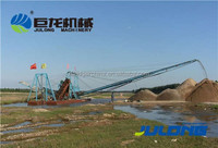 Hot selling chain bucket river sand dredger/chain gold dredger for sale