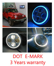 "40W 2000LM Osram chip E-MARK DOT 7"" led headlight for jeep wrangler, jeep wrangler accessories"