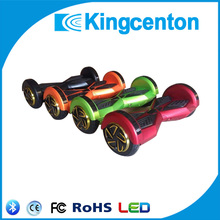 Two wheel smart balance electric scooter bluetooth self balancing two wheeler electric scooter with LED light band