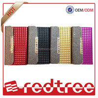 luxury wallet custom leather phone cases for iphone 4 4s 5 5s
