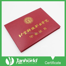 High Quality A4 Leatherette University Diploma Certificate With Hot Stamped Logo
